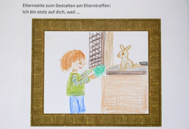 Eltern gestalten Seite im 1000 SchДtze-Heft